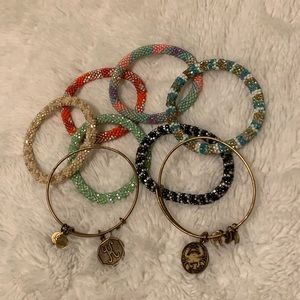 Lily and Laura & Alex And Ani Bracelet Collection
